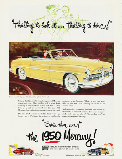 Mercury Convertible Canada 1950 | Vintage Cars 1891-1970
