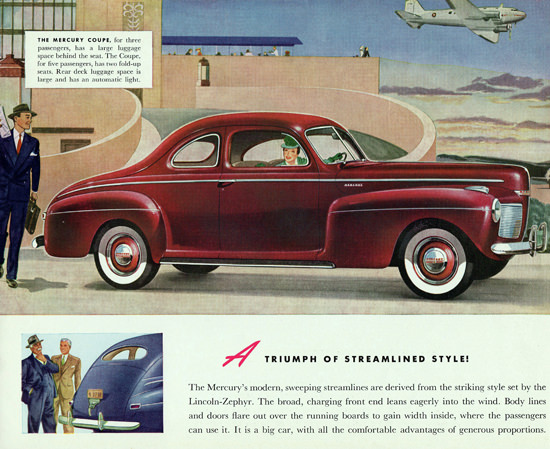 Mercury Coupe 1941 Derived Lincoln Zephyr | Vintage Cars 1891-1970