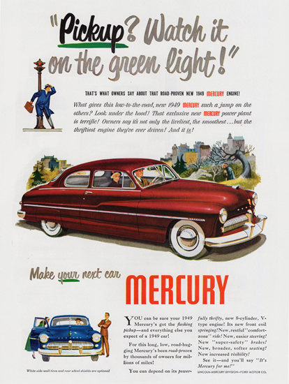 Mercury Coupe 1949 Watch It On Green Light | Vintage Cars 1891-1970