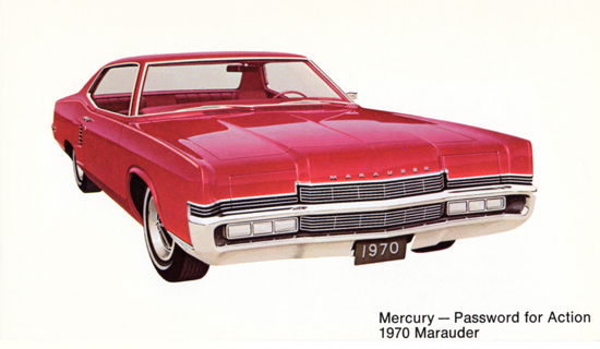 Mercury Marauder 1970 Password For Action | Vintage Cars 1891-1970