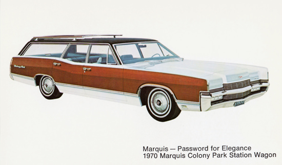 Mercury Marquis Colony Park Station Wagon 1970 | Vintage Cars 1891-1970