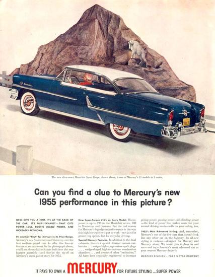 Mercury Montclair Sport Coupe 1955 | Vintage Cars 1891-1970