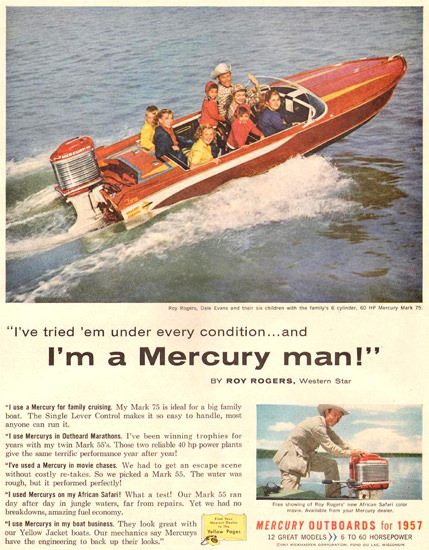 Mercury Outboards 1957 | Vintage Ad and Cover Art 1891-1970