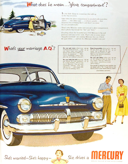 Mercury Shes Married Happy Drives 1950 | Vintage Cars 1891-1970