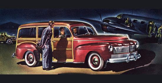 Mercury Station Wagon 1942 Air Force | Vintage Cars 1891-1970