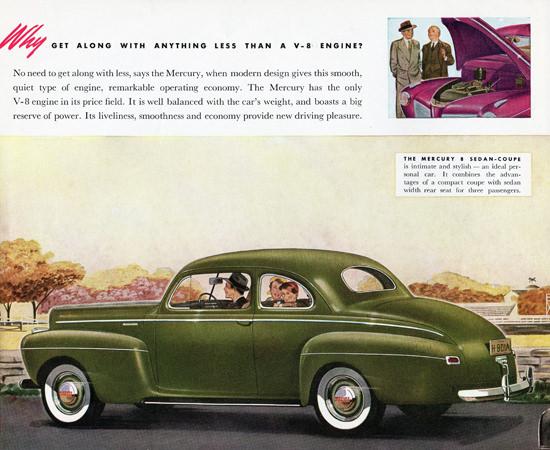 Mercury V8 Sedan Coupe 1941 Green | Vintage Cars 1891-1970