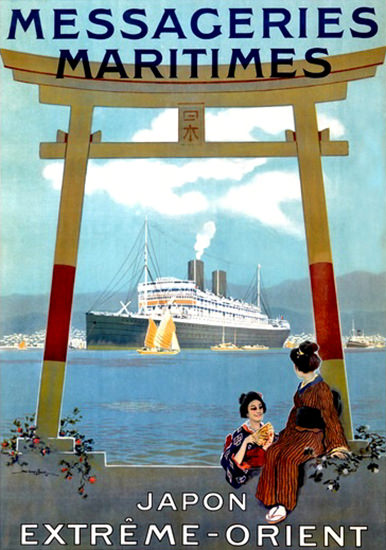 Messageries Maritimes Japon Extreme-Orient | Vintage Travel Posters 1891-1970