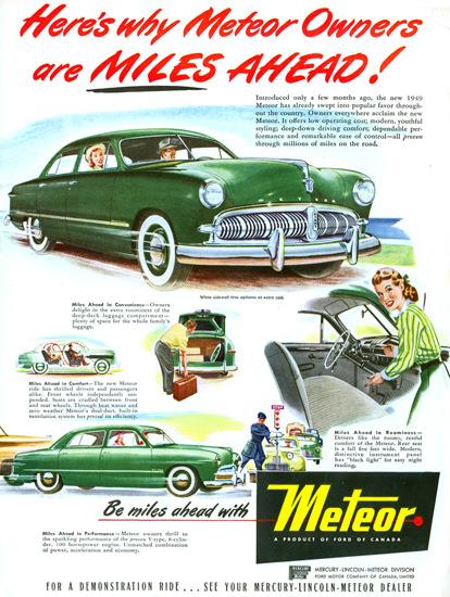 Meteor 1949 Green Milles Ahead   Vintage Cars 1891-1970