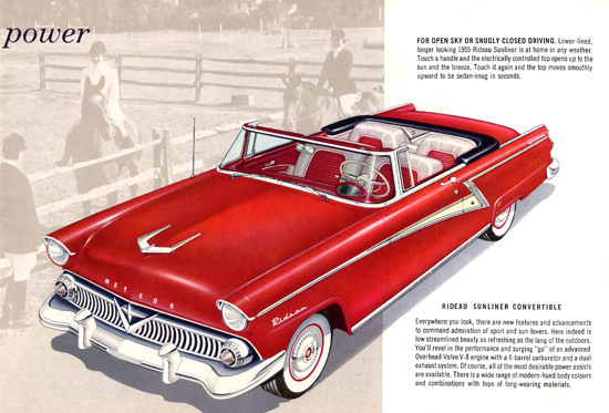 Meteor 1955 Rideau Sunliner Convertible Red | Vintage Cars 1891-1970