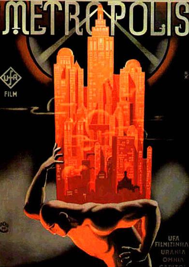 Metropolis Film UfA 1927 | Vintage Ad and Cover Art 1891-1970