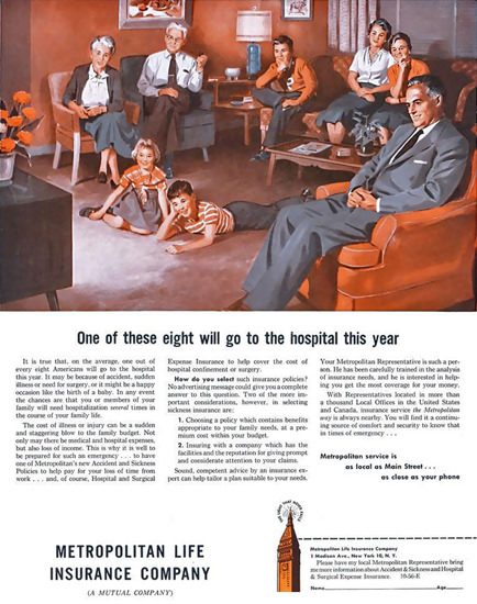Metropolitan Life Insurance 1956 | Vintage Ad and Cover Art 1891-1970