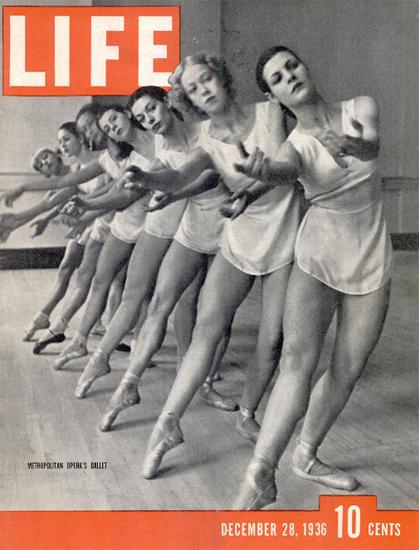 Metropolitan Opera Ballet 28 Dec 1936 Copyright Life Magazine | Life Magazine BW Photo Covers 1936-1970