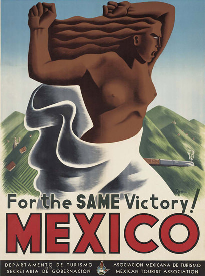 Mexico For The Same Victory | Sex Appeal Vintage Ads and Covers 1891-1970