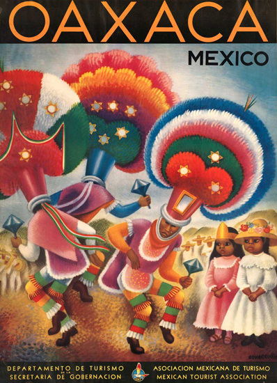 Mexico Oaxaca 1940s | Vintage Travel Posters 1891-1970