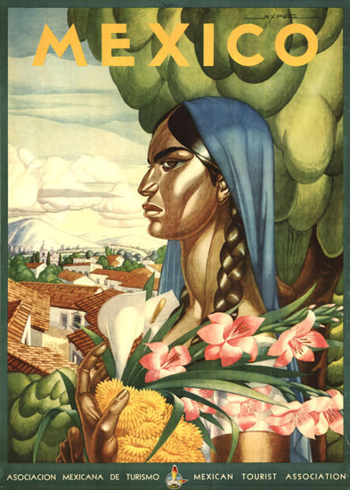 Mexico Woman 1940s | Vintage Travel Posters 1891-1970