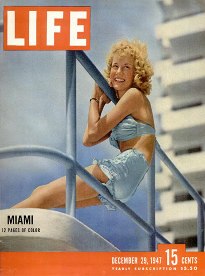 Miami in Color 29 Dec 1947 Copyright Life Magazine   Life Magazine Color Photo Covers 1937-1970