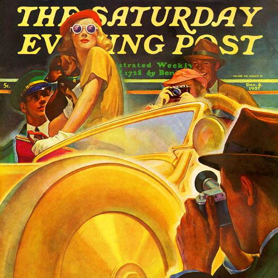 Michael Dolas Saturday Evening Post Photo 1937_12_04 Copyright crop | Best of 1930s Ad and Cover Art