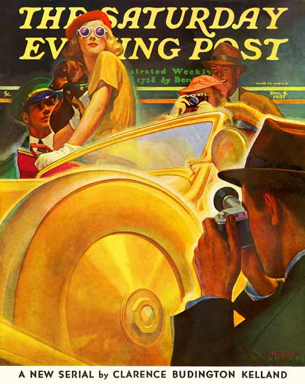 Michael Dolas Saturday Evening Post Photo Opportunity 1937_12_04 | The Saturday Evening Post Graphic Art Covers 1931-1969
