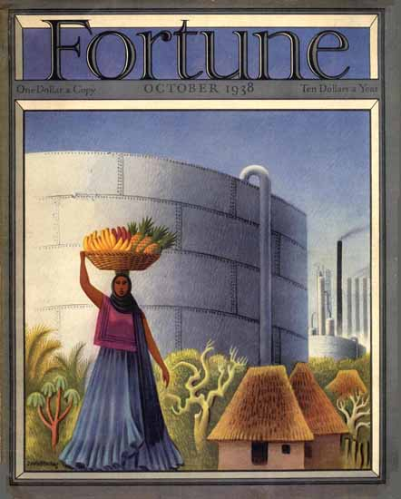 Miguel Covarrubias Fortune Magazine October 1938 Copyright | Fortune Magazine Graphic Art Covers 1930-1959
