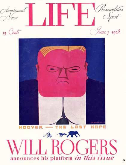 Miguel Covarrubias Life Humor Magazine 1928-06-07 Copyright | Life Magazine Graphic Art Covers 1891-1936
