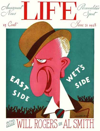 Miguel Covarrubias Life Humor Magazine 1928-06-21 Copyright | Life Magazine Graphic Art Covers 1891-1936
