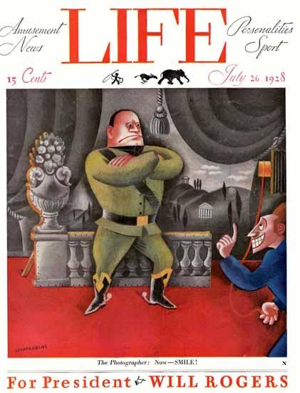 Miguel Covarrubias Life Humor Magazine 1928-07-26 Copyright | Life Magazine Graphic Art Covers 1891-1936