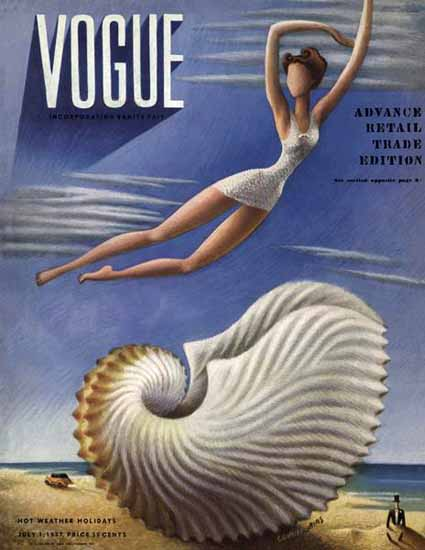 Miguel Covarrubias Magazine Cover 1937-07-01 Copyright | Vogue Magazine Graphic Art Covers 1902-1958
