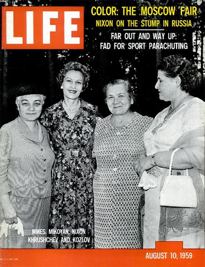 Mikoyan Nixon Khrushchev Kozlov 10 Aug 1959 Copyright Life Magazine | Life Magazine BW Photo Covers 1936-1970