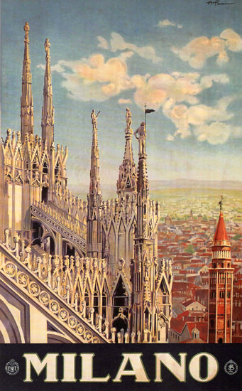 Milano The City Italy Italia | Vintage Travel Posters 1891-1970
