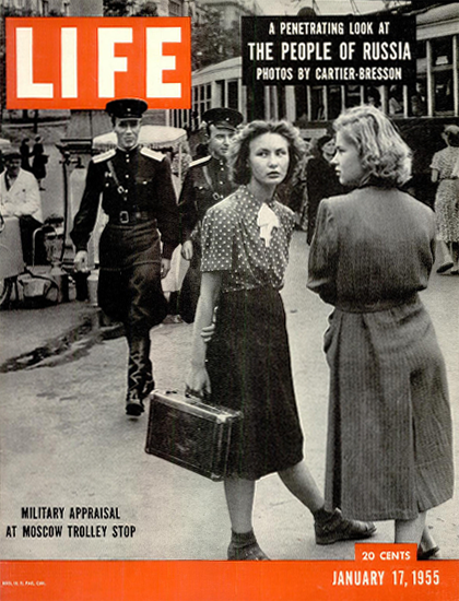 Military Appraisal in Moscow 17 Jan 1955 Copyright Life Magazine | Life Magazine BW Photo Covers 1936-1970