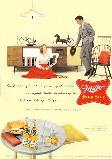 Miller High Life Beer Record Collection | Vintage Ad and Cover Art 1891-1970