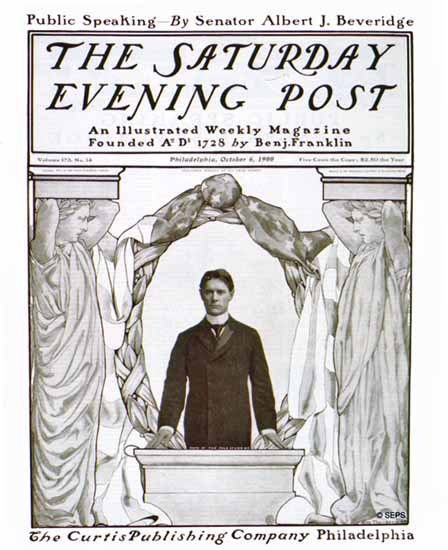 Mills Thompson Saturday Evening Post Cover Art 1900_10_06 | The Saturday Evening Post Graphic Art Covers 1892-1930