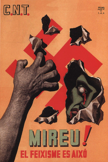 Mireu El Feixisme Es Aixo Spain Espana | Vintage War Propaganda Posters 1891-1970