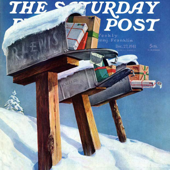 Miriam Tana Hoban Saturday Evening Post 1941_12_27 Copyright crop | Best of 1940s Ad and Cover Art