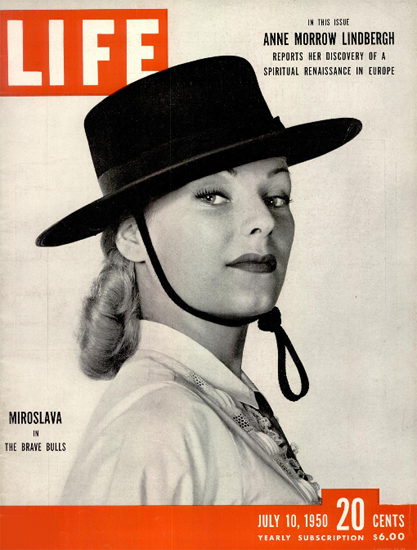 Miroslava in The Brave Bulls 10 Jul 1950 Copyright Life Magazine | Life Magazine BW Photo Covers 1936-1970