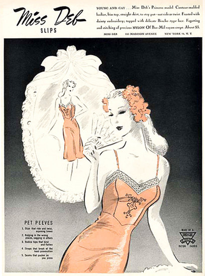 Miss Deb Slips Lingerie Pet Peeves | Sex Appeal Vintage Ads and Covers 1891-1970