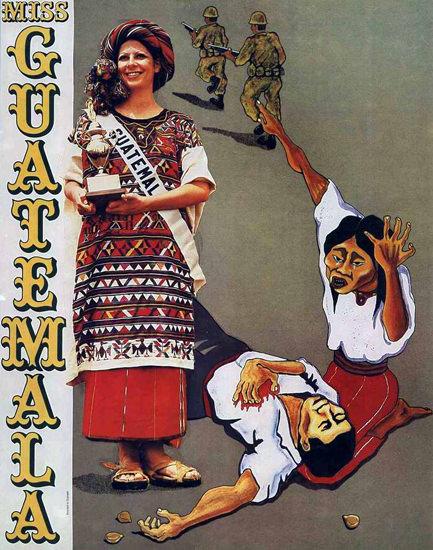 Miss Guatemala | Vintage War Propaganda Posters 1891-1970