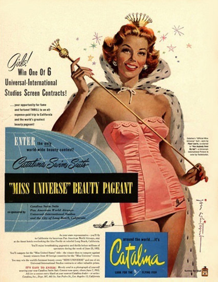 Miss Universe Beauty Pageant Catalina SwimSuits | Sex Appeal Vintage Ads and Covers 1891-1970