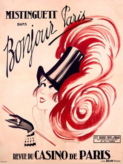 Mistinguett Dans Bonjour Paris Revue Casino   Sex Appeal Vintage Ads and Covers 1891-1970