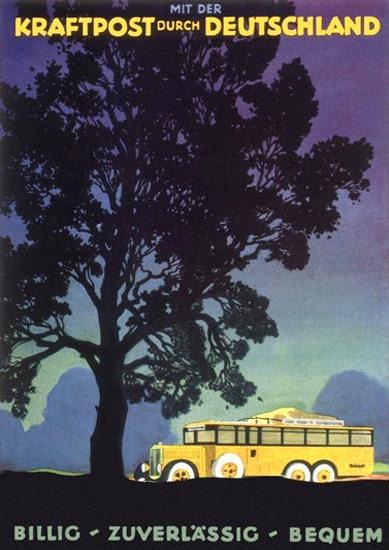 Mit der Kraftpost Durch Deutschland | Vintage Travel Posters 1891-1970