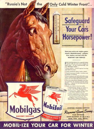 Mobiloil Mobilgas Raymond Gram Swing 1942 | Vintage Ad and Cover Art 1891-1970