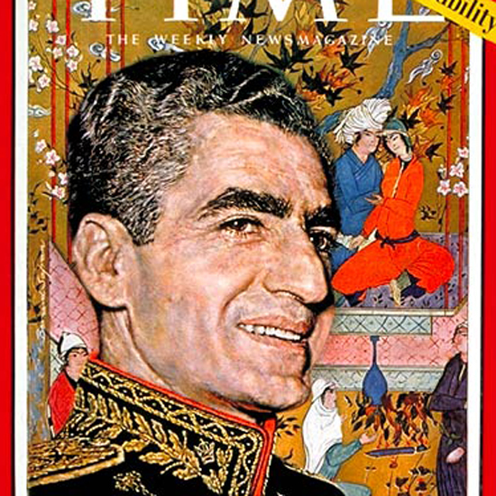 Mohammad Reza Pahlavi Time Magazine 1960-09 by Bernard Safran crop | Best of Vintage Cover Art 1900-1970