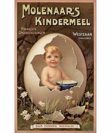 Molenaars Kindermeel Ad Westzaan Holland | Vintage Ad and Cover Art 1891-1970