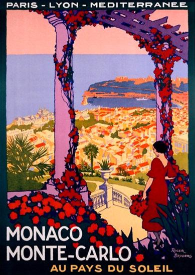 Monaco Monte-Carlo Pays Du Soleil R Broders | Vintage Travel Posters 1891-1970