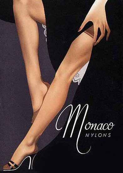 Monaco Nylons Ad 1956 Sex Appeal Sex Appeal | Sex Appeal Vintage Ads and Covers 1891-1970