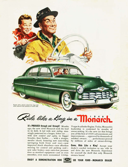 Monarch 1949 Green Ride Like A King | Vintage Cars 1891-1970