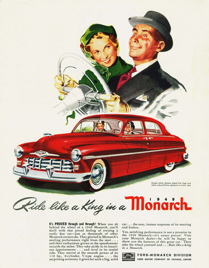 Monarch 1949 Red Ride Like A King | Vintage Cars 1891-1970