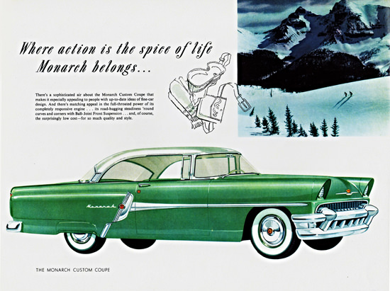 Monarch Coupe 1955 Action Is The Spice Of Life | Vintage Cars 1891-1970