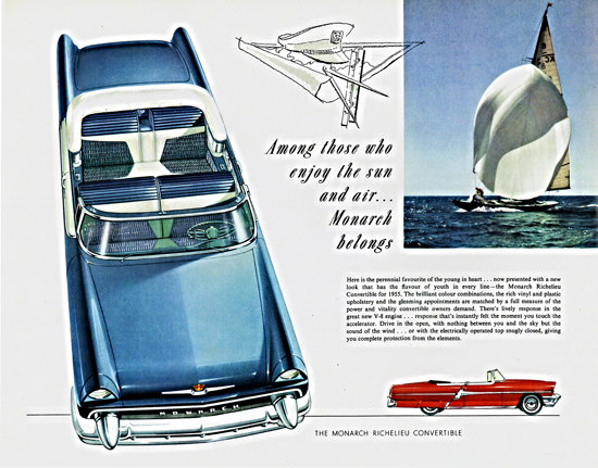 Monarch Richelieu Convertible 1955 Enjoy Sun | Vintage Cars 1891-1970