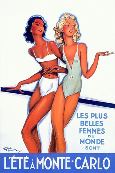 Monte-Carlo A L Ete Les Plus Belles Femmes | Sex Appeal Vintage Ads and Covers 1891-1970